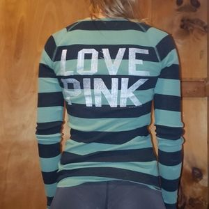 Victoria's Secret PINK striped blingy tee